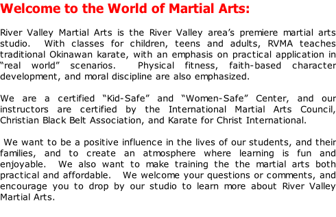 River Valley Martial Arts